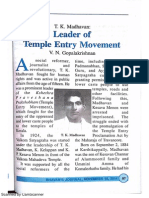 T.K.madhavan - Leader of Temple Entry Movement