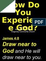 11-29-2009 How Do You Experience God