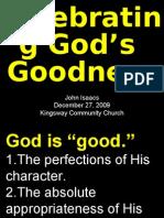 12-27-2009 Celebrating the Goodness of God