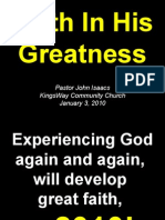 01-03-2010 Faith in His Greatness