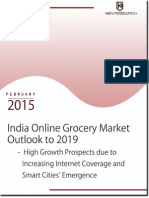 Market Share and Size India Online Grocery, 2019