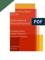 Smshabbar Zaidi Pre Budget2012 13