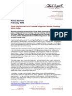 Oliver Wight Asia Pacific release Integrated Tactical Planning White Paper