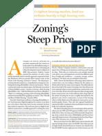 Zoning's Steep Price