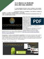 Comparyson Vetrina App Store E Sbarco Su Android
