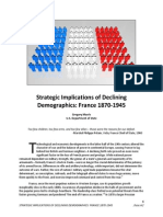 Strategic Implications of Declining Demographics in France