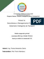 Studiu comparativ privind conexiunea 802.11p si Mobile WiMAX bazat pe retelele de comunicatii V2I