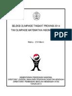 Soal Olimpiade Matematika Tk Provinsi 2014