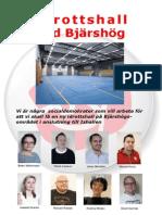 Flygblad idrottshall