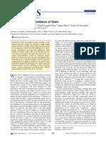 Oxidación bioelectroquímica del agua
