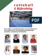 flygblad idrotttshall