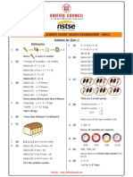 NSTSE 2015 Class 1 Answer Key & Solution