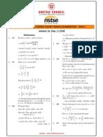 NSTSE 2015 Class 11 PCM Answer Key & Solution