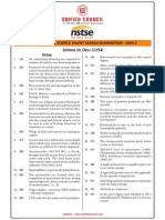 NSTSE 2015 Class 12 PCB Answer Key & Solution