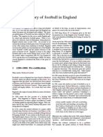 History of Football in England