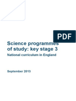 SECONDARY National Curriculum - Science 220714