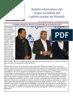 Boletín del Grupo Socialista del Cabildo de Tenerife 111. 26 de Enero - 1 de Febrero 2015