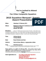2015 banquet invitation