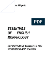 Essentials of English Morphology