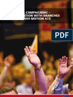 Political Campaigning – Consultation With Branches On