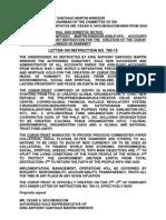 Letter of Instruction 780 15
