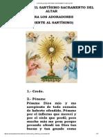 Coronilla Del Santísimo Sacramento Del Altar