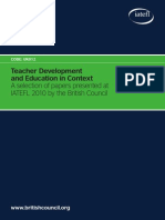 Teacher Development and Education in Context