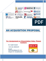 Acquisition Proposal