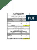 Planilha de Calculo de Taxa de Juros
