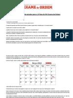 Original Cronograma de Estudos (Atualizado) Para o XVI Exame de Ordem