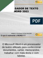 Processador de Texto Word 2003