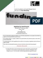Small Grants Funding Workshop