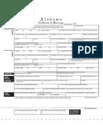 New AL Marriage License Form