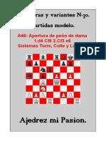 30- A46 Apertura de Peón de Dama 1.d4 Cf6 2.Cf3 e6 - Sistemas Torre, Colle y Londres