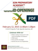 ANDERSON PREPARATORY ACADEMY™ GRAND OPENING!