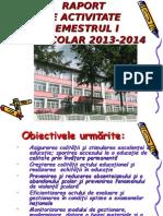 Raport de Activitate Semestrul i 2013 2014