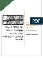 GUIA METODOLÓGICA PARA EL DESARROLLO URBANO DE LOS CENTROS DE POBLACION