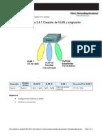 Dis3_Ch3.4.1.5_Lab_Creación de VLAN y Asignación de Puertos