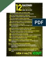12 Razones Porque Su Hijo (a) Debe Ser Scout