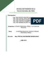 Detencion en El Codigo Procesal Penal