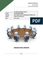 Organizational Behavior