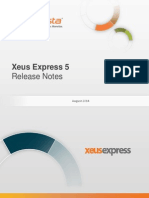 InfoVista Xeus Express 5 Release Notes