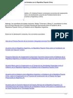Gobiernos de La Argentina y China Suscriben Acuerdos de Cooperacion en Diversos Campos