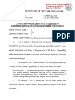 Lebovitch Affidavit ISO Plaintiffs_ Second Motion for Expedited Proceedi...