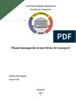 Planul Managerial al unei firme de transport