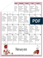 February Activity Schedule