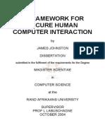 Framework of HCI