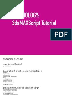 Maxscript Tutorial | Parameter (Computer Programming