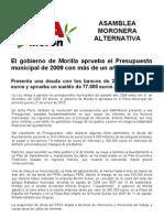 Nota de Prensa PresupuestosEnero10