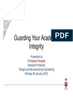 Guarding Your Academic Integrity